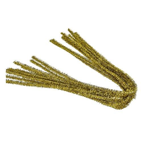Pfeifenputzer ø 8 mm / 50 cm 10 Stk. gold