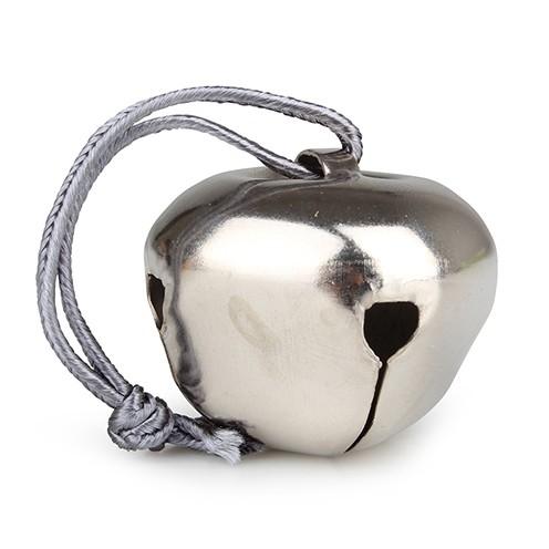 Glöckchen Metall zum Hängen ø 4 cm/ 11 cm silber