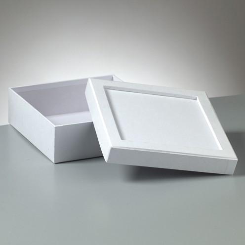 Box Mosaix Quadrat 17 x 17 x 6 cm weiß