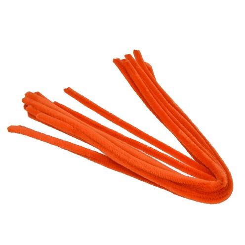 Pfeifenputzer ø 8 mm / 50 cm 10 Stk. orange