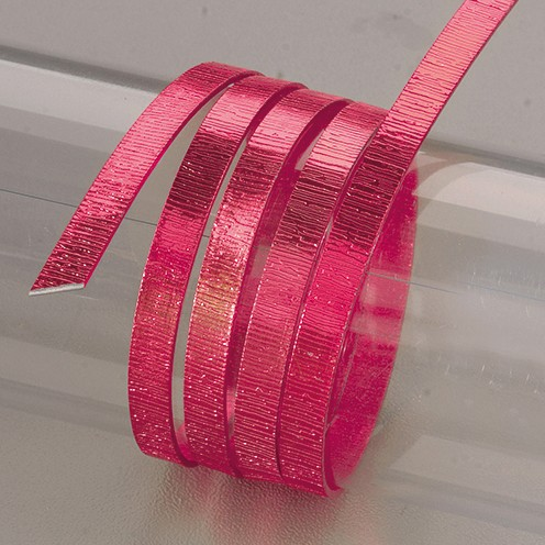 Aludraht eloxiert Struktur flach 1 x 5 mm 2 m pink