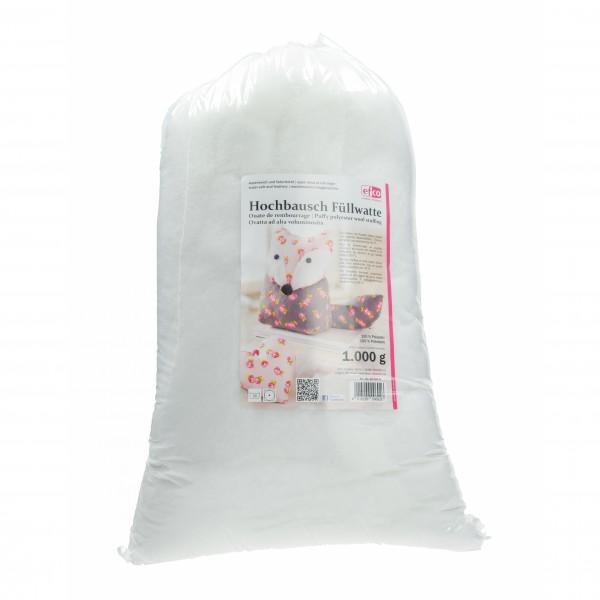 Füllwatte Hochbausch zum Befüllen und Dekorieren 1.000 g weiß