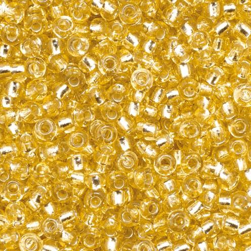 Indianerperlen Silbereinzug ø 2,6 mm 17 g gold