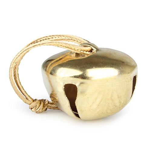 Glöckchen Metall zum Hängen ø 4 cm/ 11 cm gold