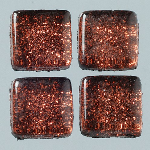 MosaixSoft-Glassteine Glitter 10 x 10 x 4 mm 200 g ~ 215 Stk. braun