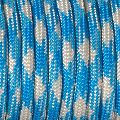 Paracord Farbmix 4 mm x 50 m azurblau hellgrau