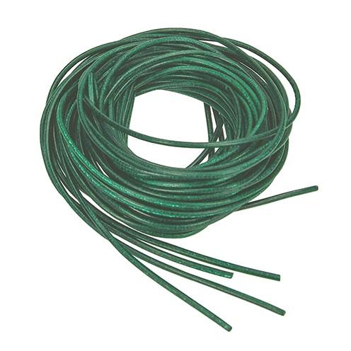 Lederriemen ø 2 mm 1 m grün