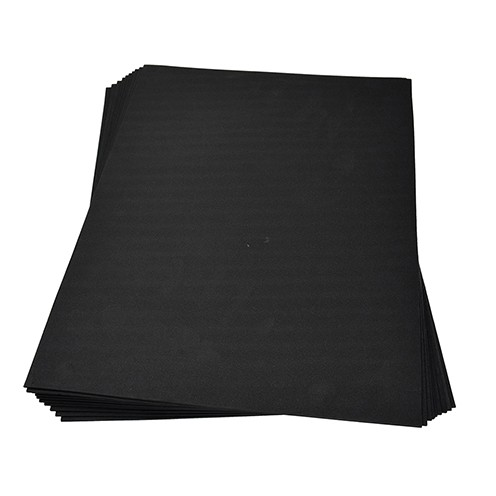 Moosgummiplatte 300 x 450 x 2 mm schwarz