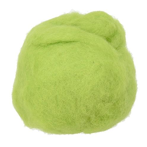 Wolle zum Filzen reine Schurwolle 30 g hellgrün