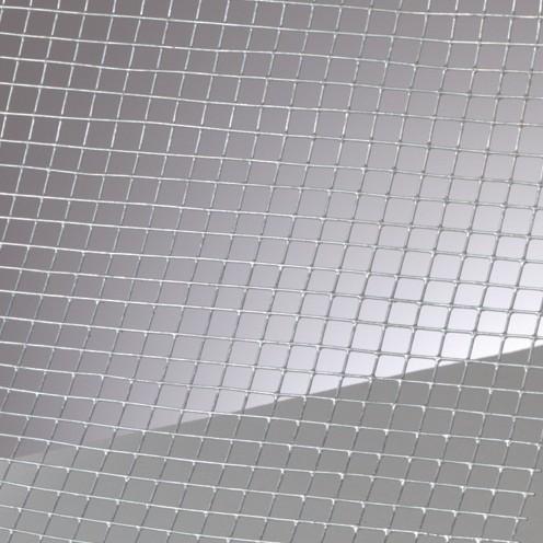 Drahtgitter verzinkt 6x6 mm / 100x40 cm / ~0,5 mm silbergrau