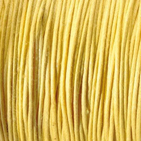Baumwollkordel gewachst ~ 0,5 mm gelb