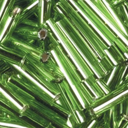 Stiftperlen Silbereinzug ø 2 x 11 mm 500 g maigrün
