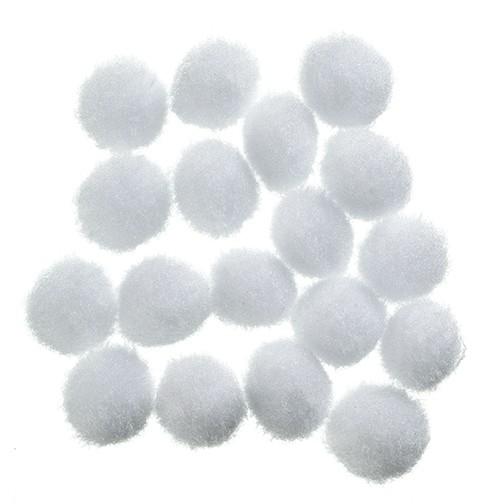 Pompons 10 mm 100 Stk. weiß