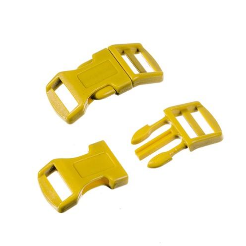 Klickschnalle 16 / 20 mm 8 Stk. goldgelb