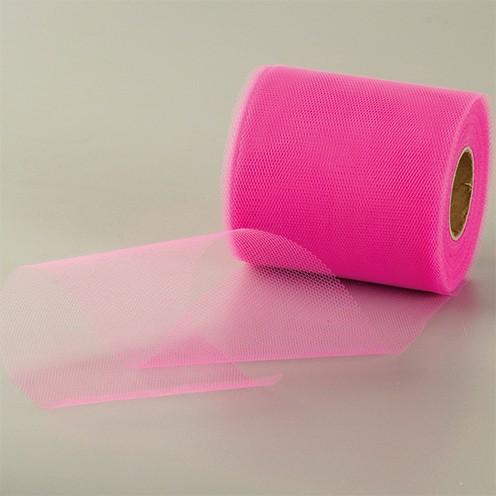 Tüllband 100 mm pink
