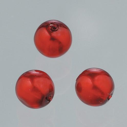 Glaswachsperle Luster 6 mm 40 Stk. rot