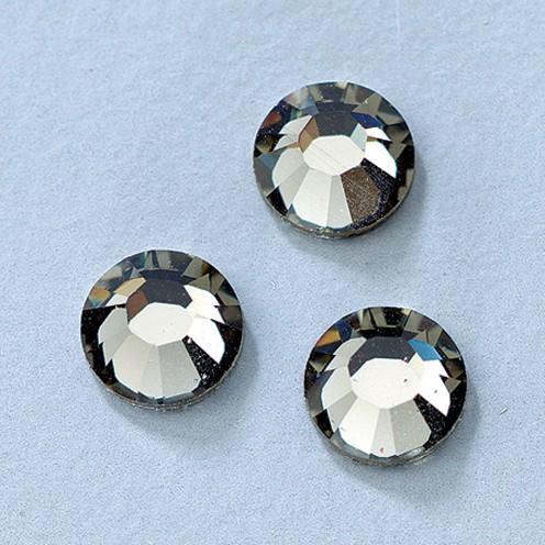 Swarovski Strass-Flachsteine ø 3 mm 20 Stk. black diamond