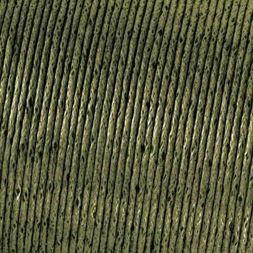 Baumwollkordel gewachst ø 1 mm olivgrün