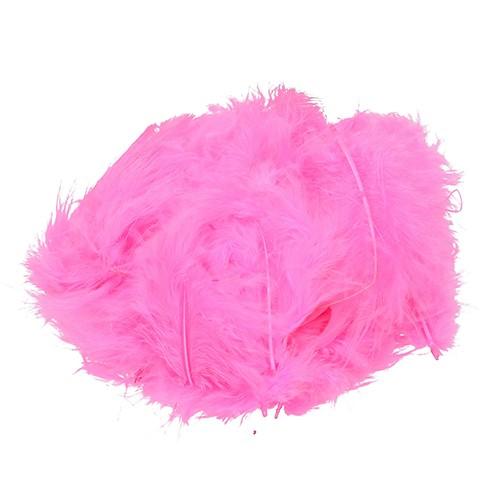 Marabufeder 100 - 120 mm 2 g ~ 20 Stk. pink
