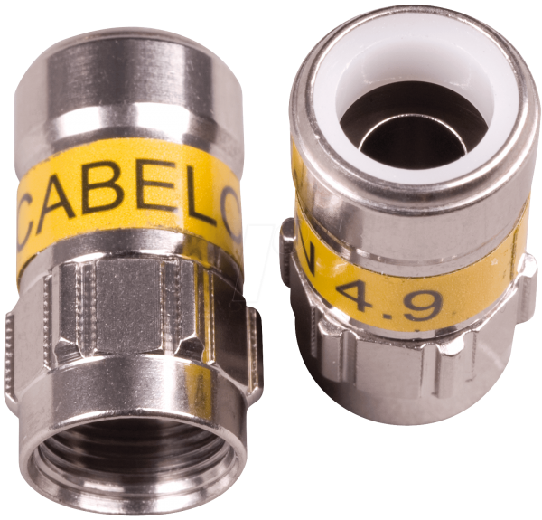 Cabelcon F-56 4.9 Self Install F-Kompressionsstecker gelb RG6 / 7 mm