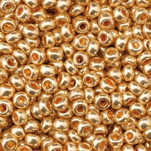 Indianerperlen metallic ø 2,6 mm 17 g rotgold