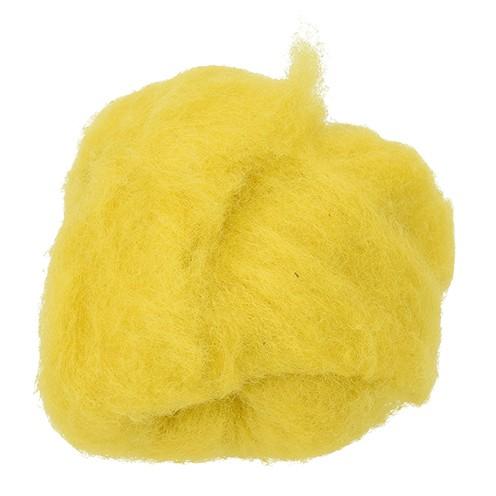 Wolle zum Filzen reine Schurwolle 30 g zitronengelb