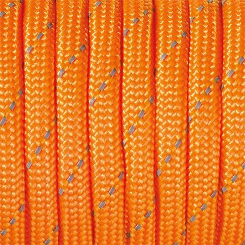 Paracord reflektierend 4 mm x 50 m orange