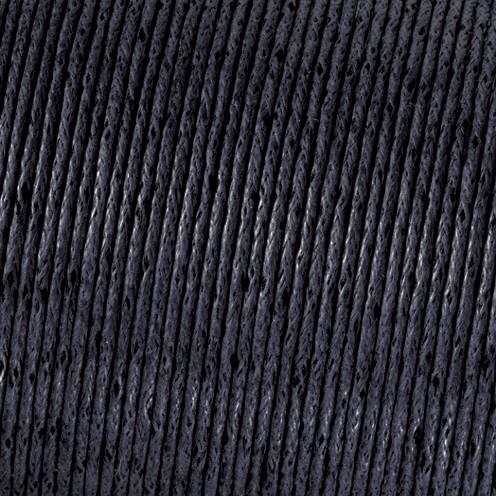 Baumwollkordel gewachst ø 1 mm schwarz