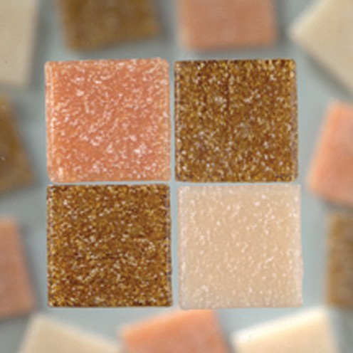 MosaixPro-Glassteine 20 x 20 x 4 mm 200 g ~ 63 Stk. naturmix
