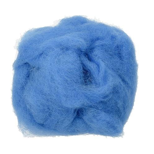 Wolle zum Filzen reine Schurwolle 30 g blau