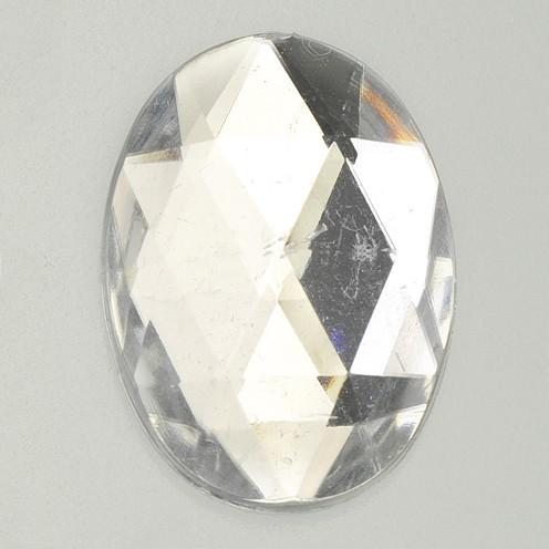 Schmucksteine Acryl facettiert Set Oval 8x10 / 10x14 / 13x18 / 18x25mm 30 / 10 / 10 / 2 Stk. kristal