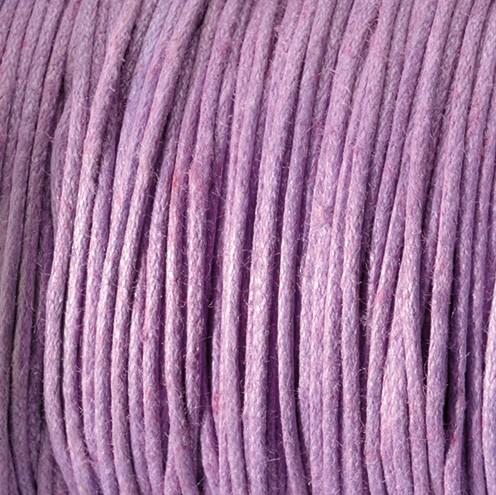 Baumwollkordel gewachst ~ 0,5 mm flieder