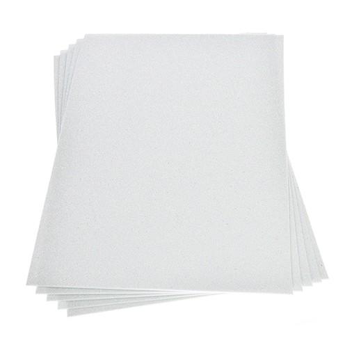 Moosgummiplatte Glitter 200 x 300 x 2 mm weiß