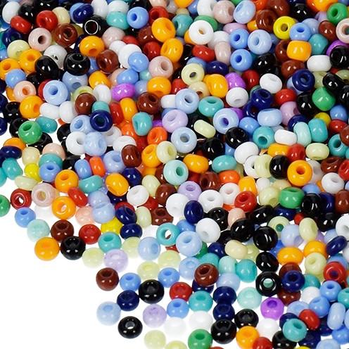 Indianerperlen opak ø 2,6 mm 17 g farbig sortiert
