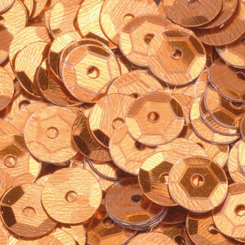 Pailletten, rund, gewölbt ø 6 mm 40 g / ~ 4.000 Stk. cognac