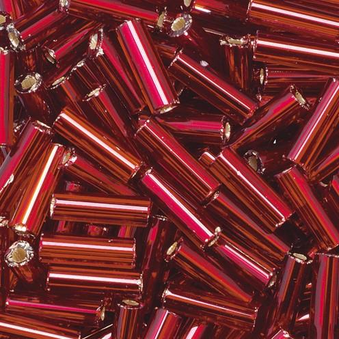 Stiftperlen Silbereinzug 6,8 x 2,2 mm 13 g bordeaux