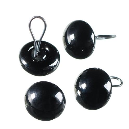 Tieraugen mit Öse, Glas ø 8 mm 4 Stk. schwarz