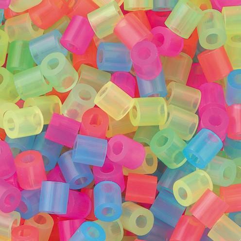 Nabbi® - Bügelperlen ~Ø 5 x H 5 mm 20.000 Stk. Neon Mix