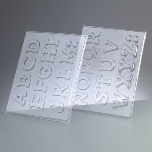 Reliefform Buchstaben A - Z, 26-teilig h 4 cm 2 Formen