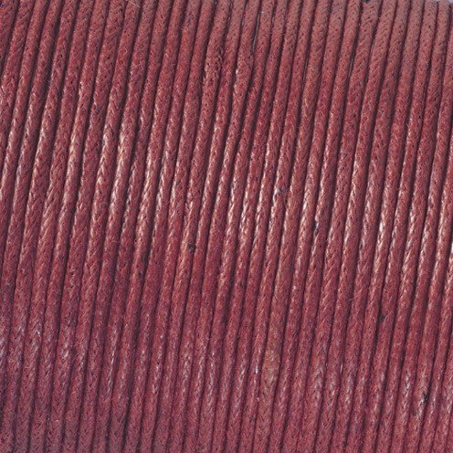 Baumwollkordel gewachst ø 2,0 mm bordeaux