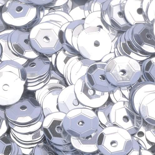 Pailletten, rund, gewölbt ø 6 mm 40 g / ~ 4.000 Stk. silber