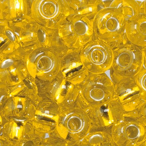 Indianerperlen Silbereinzug ø 5,5 mm 500 g gelb