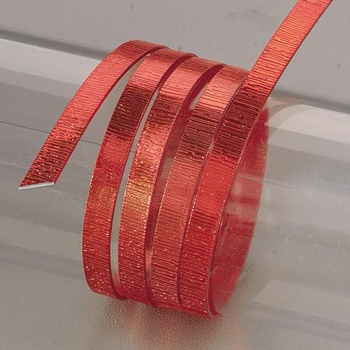Aludraht eloxiert Struktur flach 1 x 5 mm 2 m rot