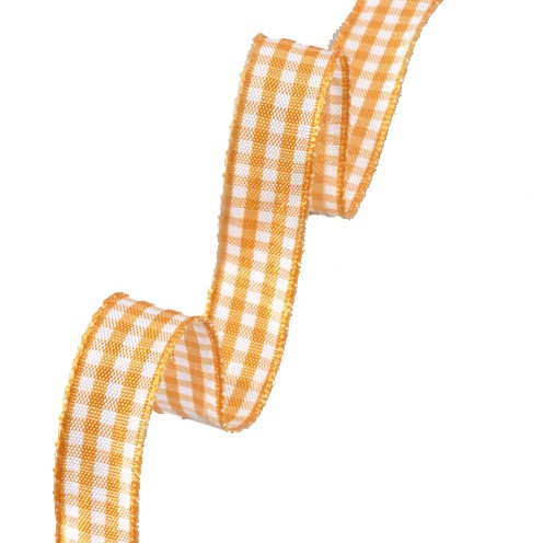 Dekoband Vichy Karo 15 mm orange