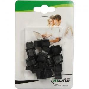 InLine Staubschutz - für RJ45 Buchse - Farbe: schwarz - 10er Blister