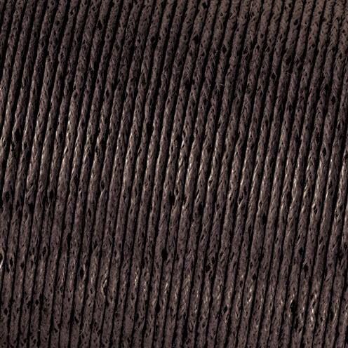 Baumwollkordel gewachst ø 1 mm dunkelbraun