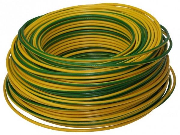 Erdungskabel: NEUT PVC-Aderleitung H07V-U 1x4 RG100m gruen/gelb 100m