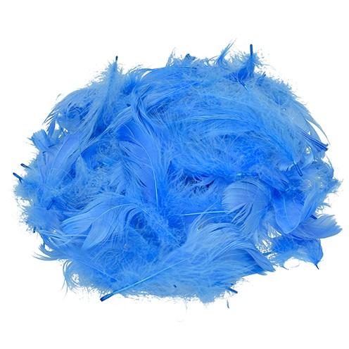 Deko-Federn 80 - 100 mm 10 g ~ 110 Stk. hellblau