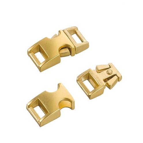 Klickschnalle Metall 11 / 14 mm gold