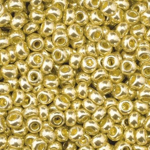 Indianerperlen metallic ø 2,6 mm 17 g gold